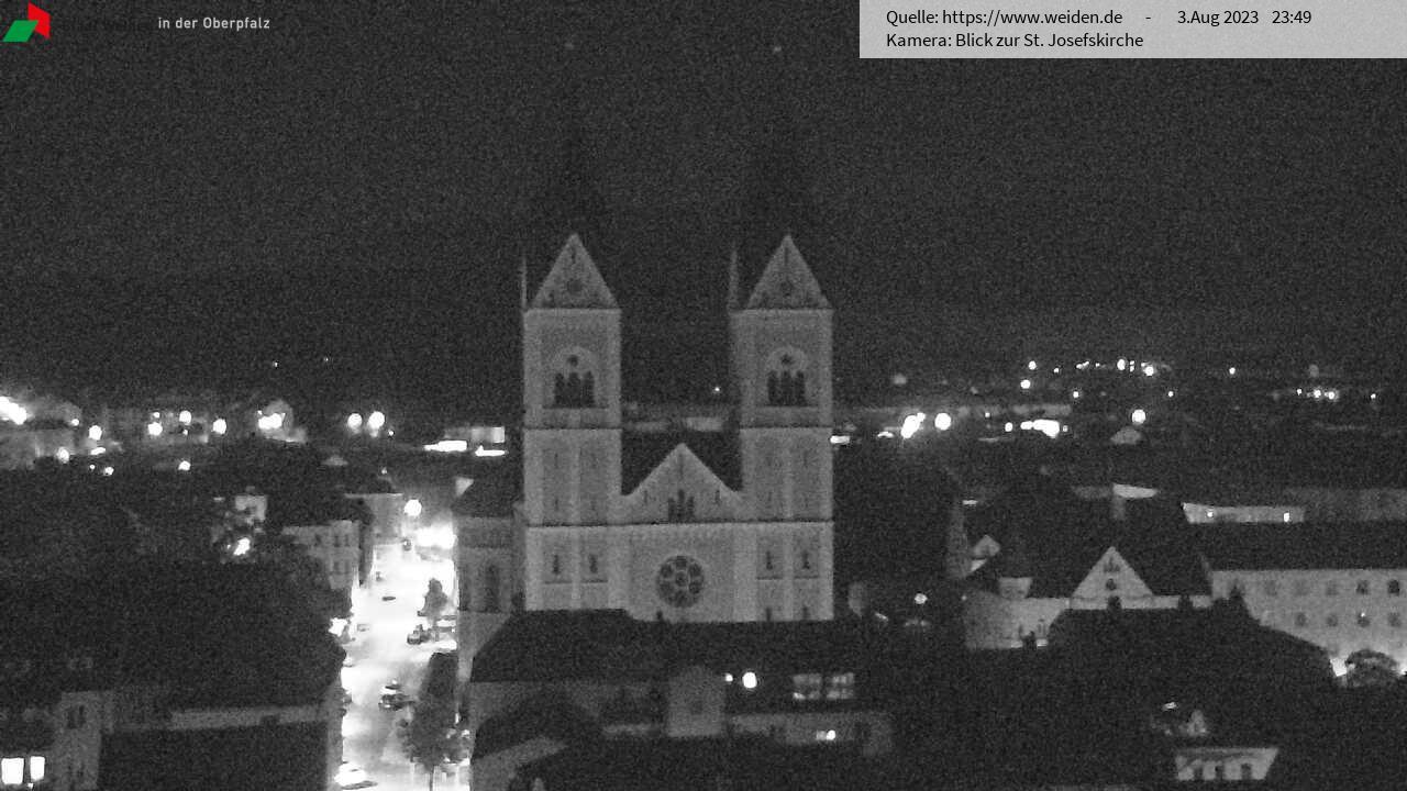 Blick zur Josefskirche